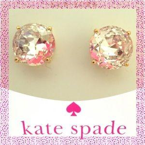 ✨ NWTs Kate Spade ♠️ Large Clear Gumdrop Earrings
